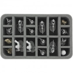 60 mm Half-Size foam tray - 18 compartments