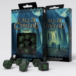 Call of Cthulhu Black & green Dice Set (7)