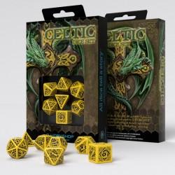 Celtic 3D Revised Yellow & black Dice Set (7)