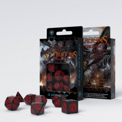 Dragons Black & red Dice Set (7)