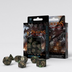 Dragons Bottle-green & gold Dice Set (7)