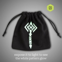 Hammer Black & glow-in-the-dark Dice Bag