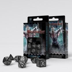 Bloodsucker Black & silver Dice Set