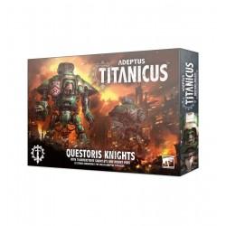 Adeptus Titanicus: Questoris Knights con guanteletes atronadores y baterías de cohetes