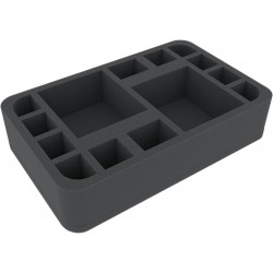 60 mm Feldherr Half-Size foam tray with 14 compartments