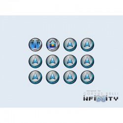 "Infinity Tokens ""Regular"" (12) BLUE"