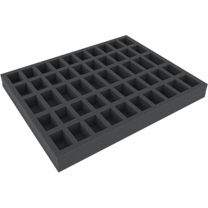Full-size foam tray with 50 slots 35 mm