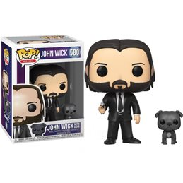 POP John Wick - John in Black Suit w/ Dog Vinyl Figures