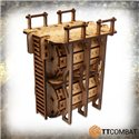 45 mm foam tray with 10 compartments