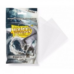 Clear/Clear (100 Sleeves) Perfect Fit - Dragon Shield Standard Sleeves