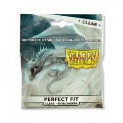 Clear/Clear (100 Sleeves) Perfect Fit Sideloading - Dragon Shield Standard Sleeves -