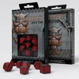 Dwarven Black & Red Dice (7)