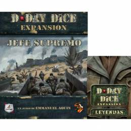 Pack: Jefe Supremo + Leyendas - D-Day Dice