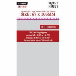Sleeve Kings Space Alert Large Compatible Sleeves (67x103mm)