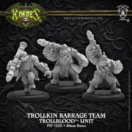 Trollkin Barrage Team – Trollbloods Unit