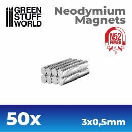 Imanes Neodimio 3x0'5mm - 50 unidades (N52)
