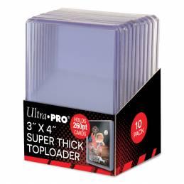"3"" x 4"" Super Thick 260PT Toploader 10ct"