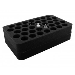 Bandeja 37 Round Slots 70 mm Mini  Con base