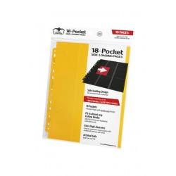Hojas para archivador (10 unidades) 18-Pocket Side-Loading Amarillo