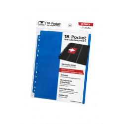 Hojas para archivador (10 unidades) 18-Pocket Side-Loading Azul