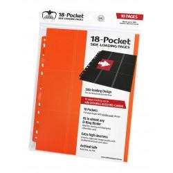 Hojas para archivador (10 unidades) 18-Pocket Side-Loading Naranja