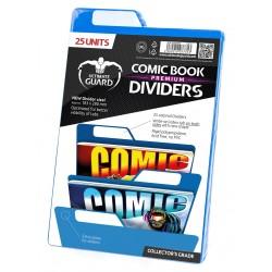 Separadores para cómics Premium Azul (25 unidades)