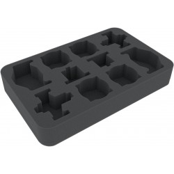HSMEAH040BO 40 mm foam tray for Star Wars X-Wing Kimogila Fighter, Quadjumper and H-6 Surrg Bomber