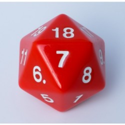 D20 Countdown Die 55 mm - Red