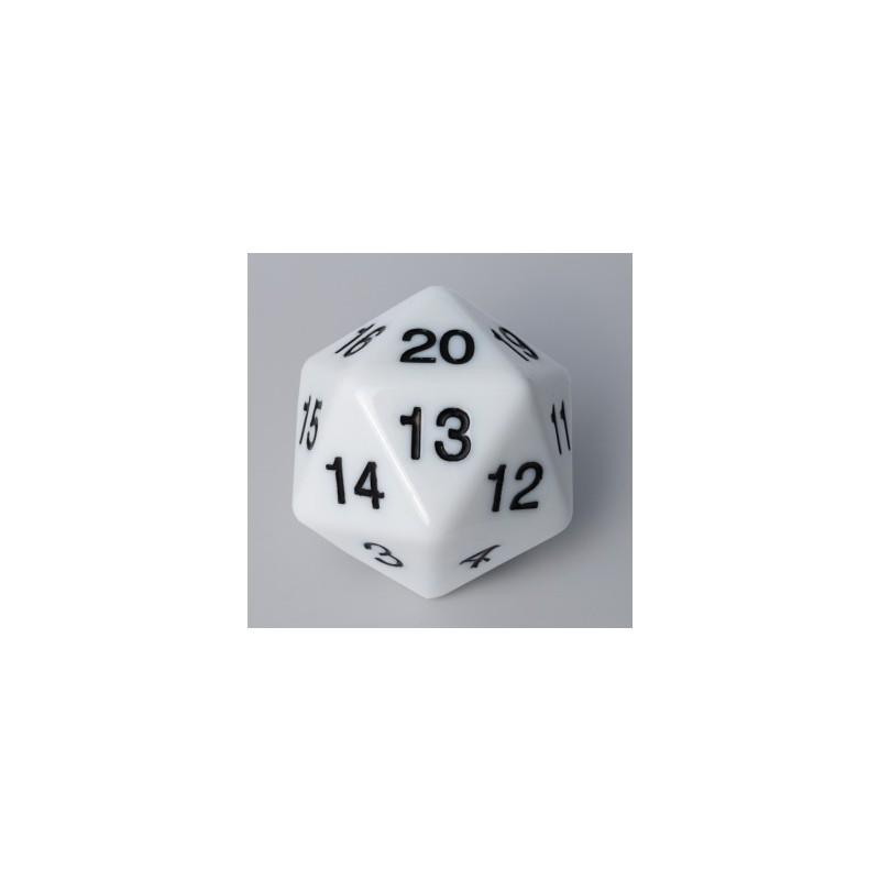 D20 Countdown Die 55 mm - White