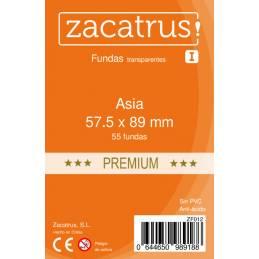 Fundas Zacatrus Asia Premium (57,5 mm x 89 mm) (50 uds)