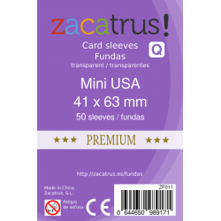 Fundas Zacatrus Mini USA Premium (41 mm X 63 mm) (50 uds)