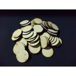 50x 32mm Round Bases