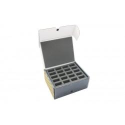 Half-sized medium box fo 60 miniatures on  25 mm bases