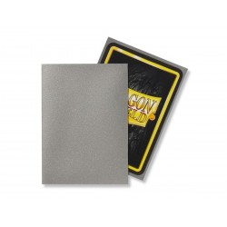 Matte Silver (100 Sleeves) - Dragon Shield Standard Sleeves