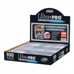 UP - Secure Platinum - 9-Pocket Pages (3 Hole) Display (100 Pages)