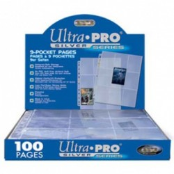 UP - Silver 9-Pocket Pages (11 Hole) Display (1 Page)