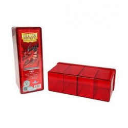 4 Compartment Storage Box - Red