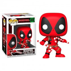 POP Marvel Holiday Deadpool with Candy Canes