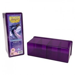 4 Compartment Storage Box - Purple