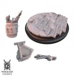 Warcradle Classics - Red Oak Large Base Topper Set & Scatter Terrain