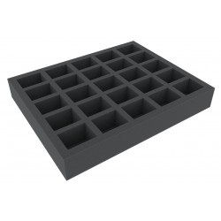 50 mm Full-Size foam tray with 25 compartments