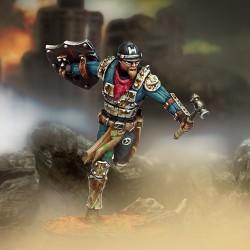 Captain Hammerica (maza, pistola y armadura metálica)