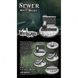 Wyrdscapes Sewer 30mm Bases - 5 Pack