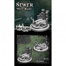 Wyrdscapes Sewer 40mm Bases - 2 Pack